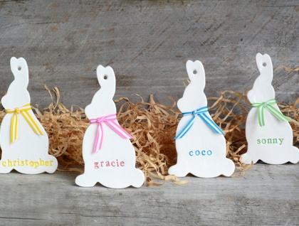 Personalised Ceramic Bunny Rabbit