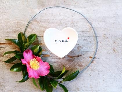 Ceramic Nana Heart Dish - Charcoal