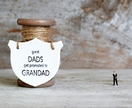"""Great Dad's get promoted to Grandad"" Ceramic Plaque"