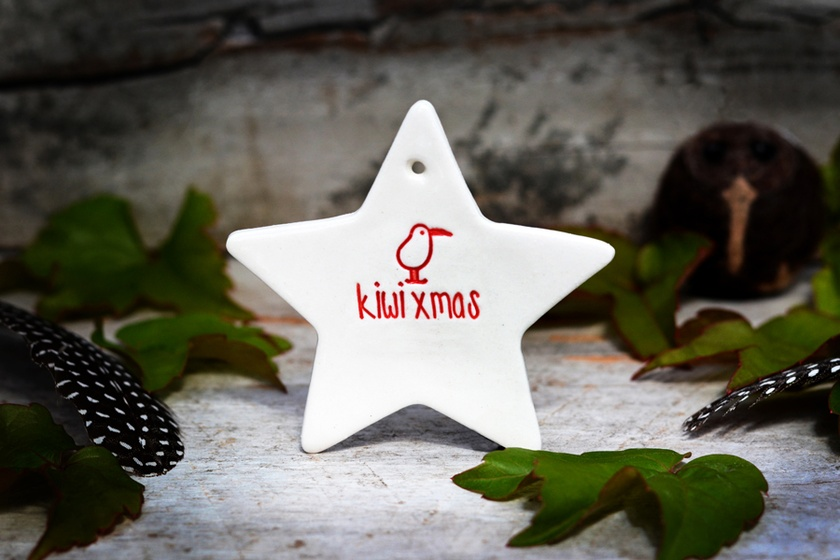 Ceramic Kiwi Xmas Star