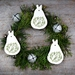 Ceramic Partridge in a Pear Ornament - Avocado Green