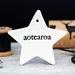 Ceramic Aotearoa Star Ornament -  Black