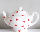 Red Hearts Large Teapot