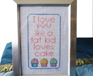 I Love You like a Fat Kid Loves Cake – Counted cross-stitch pattern