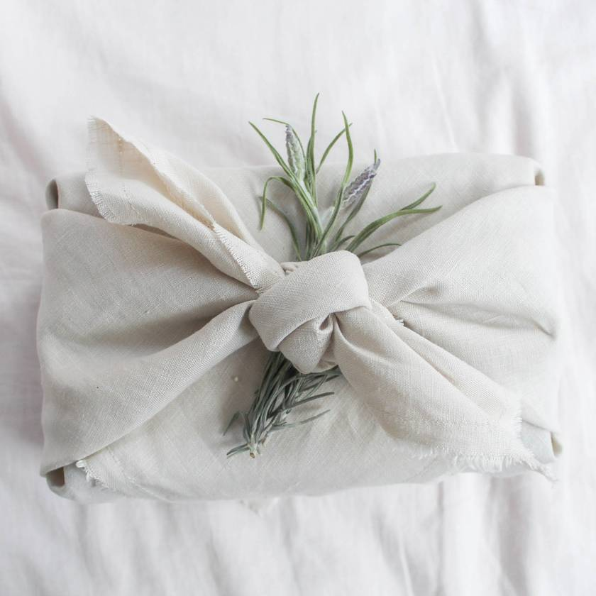 Reusable Linen Gift Wrap - Set of 3