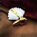 Porcelain brooch - Piwakawaka / Fantail