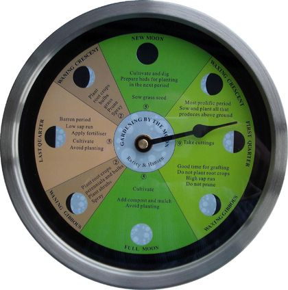 Gardener's Moon phase clock
