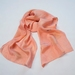 Peach and Peony silk scarf, nature dyed