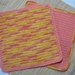 Dish Cloths Crocheted 100% Cotton