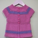 Cotton Pink Girl's Tunic Hand Knit