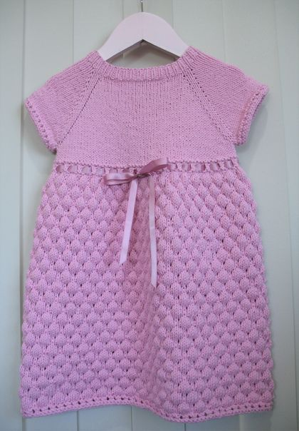 Hand Knit Dress 18-24 months old