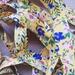 Yellow floral bias binding - 18mm x 5m