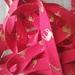 Red/Gold Reindeer bias binding! - 25mm x 5m