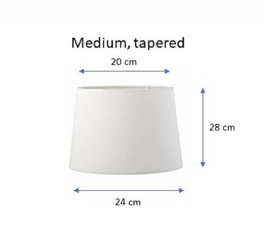Fabric lampshade - green foliage