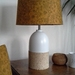 Fabric lampshade - mustard floral