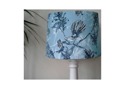 Large fantail and tui lampshade