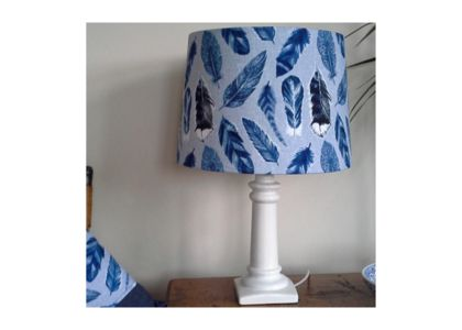 Handcrafted fabric lampshade