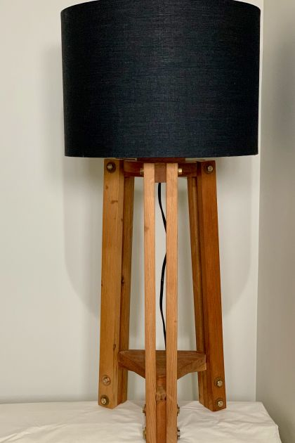 Recycled kauri table lamp