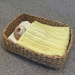 Handknit doll's blanket