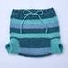 Wool nappy cover / soaker - medium - blue stripes