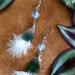 Kereru feather earrings with opalite