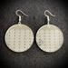 Kawau Circle Earrings - Silver Mirror