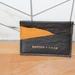 CHOC/ ORANGE SUEDE Sonder Slim card wallet
