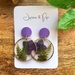 Encapsulated Flora - Statement Earrings