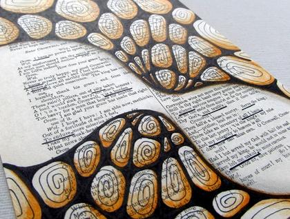 Original Art- Found Poetry - Farewell