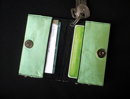 RESERVED - Wasabi keyring card pouch