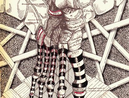 5x7 print - Foot (anatomy)- Print