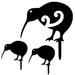 Kiwi and Chicks Metal Bang'n Bird
