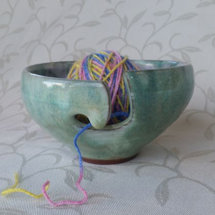 Wheel thrown Yarn bowl