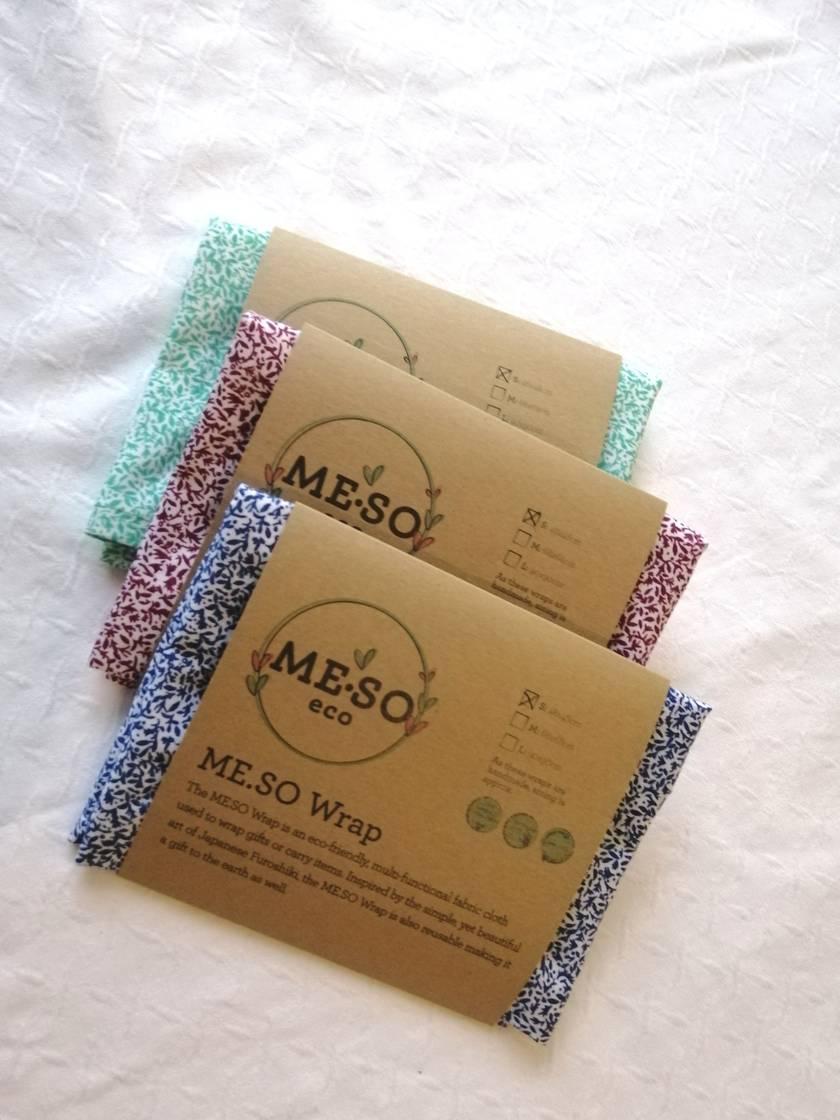 ME.SO eco FABRIC WRAP - Furoshiki - Organic Cotton SMALL