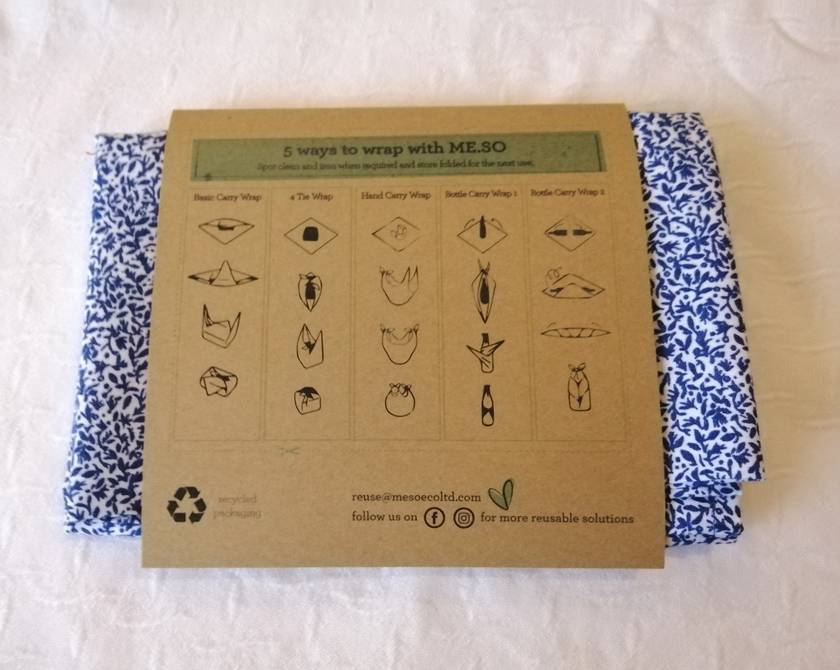 ME.SO eco FABRIC WRAP - Furoshiki - Organic Cotton MEDIUM