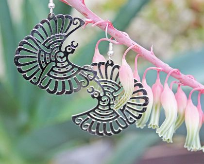 Fantail  Earrings New Zealand Birds collection.