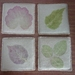 Linen Coasters with HapaZome leaf prints