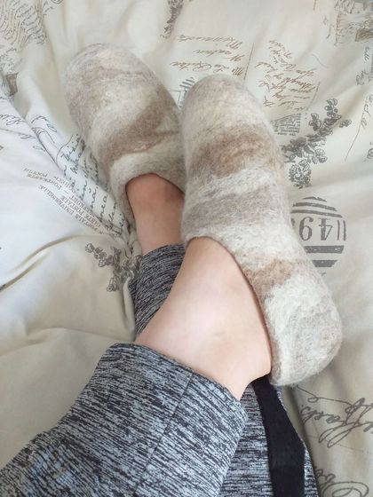 Felt Slippers - Custom Made - Women's Slippers