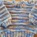 Variegated pastel jumper, 100% wool