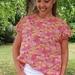 Summer stock sale - now just $40! Marta top - Pink/orange floral