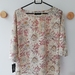 Cream, grey and red Liberty print top