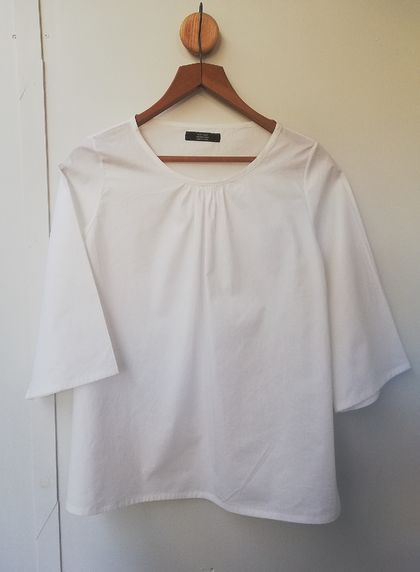 SALE! Now just $45! White cotton poplin top