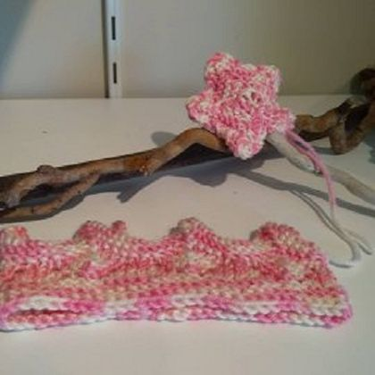 Knitted Crown and Wand Set