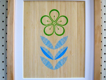 Manuka Print on Bamboo Veneer