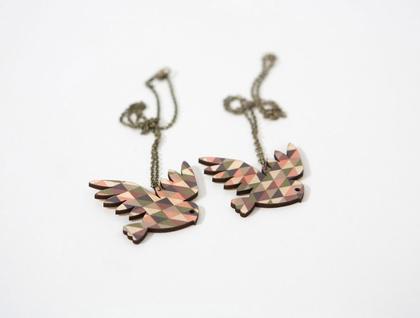 Owl Geo Necklace