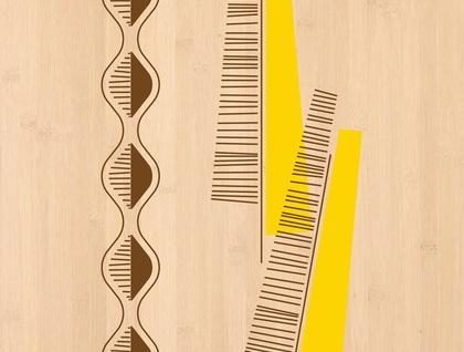 Kowhai Print on Bamboo Veneer
