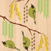 Bellbird (Korimako) on Kowhai - Native NZ Bird Art Print on bamboo veneer