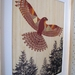 Falcon (Karearea) Print on Bamboo Veneer (with gold leaf detail)