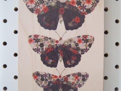 Red Admiral (Kahukura)​ : Plywood Art Block