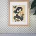 Huia on Karaka - Native NZ Bird Art Print on bamboo veneer